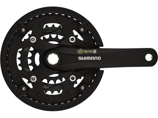 Shimano Alivio FC-T4010 Crank Set 44/32/22 Chain Protection Ring, black